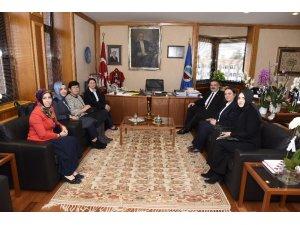 KADEM'den, Rektör Prof. Dr. Şafak Ertan Çomaklı'ya nezaket ziyareti