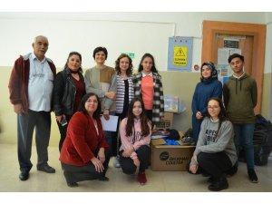 Kars'taki öğrencilere yardım gönderdiler