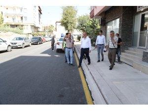 Pamukkale'de 4 sokağın üst yapısı 20 günde bitirildi