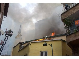 Seyrantepe'de camide korkutan yangın