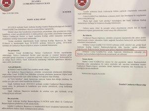 """İstanbul Cumhuriyet Başsavcılığı'ndan yapılan açıklamada, """"Cemal Kaşıkçı evlilik işlemleri için girdiği Suudi Arabistan Başkonsolosluğu'nda daha önceden yapılan planlama doğrultusunda konsolosluk binasına girer girmez b"""