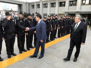Ankara'ya atanan Vali Şahin'den Emniyet Müdürlüğüne veda ziyareti