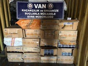 Van'da 39 bin 700 paket kaçak sigara ele geçirildi
