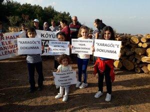 Akpınar'dan taş ocağı eylemcilerine tam destek