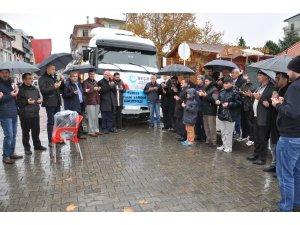 Simav'dan mültecilere 25 ton un yardımı