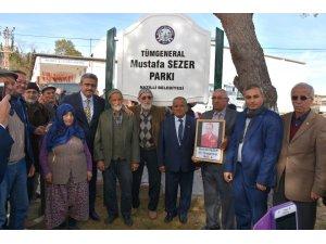 Tümgeneral Mustafa Sezer Parkı törenle açıldı