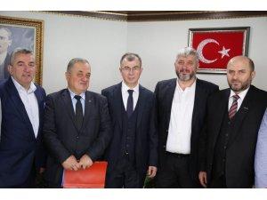 """DKİB'den Artvin Valisi Doruk'a """"hayırlı olsun"""" ziyareti"""