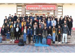 Tunceli'de 2 bin 19 öğrenciye uçakla yurtiçi gezisi