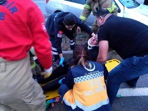 Burhaniye'de trafik kazası: 1 yaralı