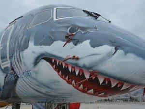 Köpek balığı görünümlü uçak