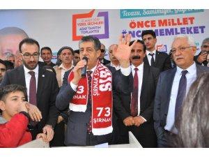 AK Parti belediye başkanı adayı Yarka'ya Şırnak'ta coşkulu karşılama