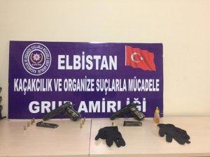 Elbistan'da silah kaçakçılığı operasyonunda 2 kişi tutuklandı