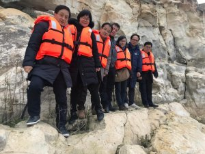 Güney Kore'den kaya resimlerini görmeye geldiler
