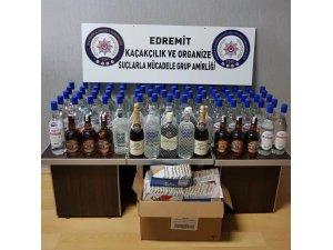 Balıkesir'de kaçak içki operasyonu