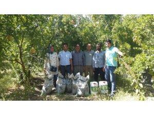 Siirtli çiftçilere ücretsiz dağıtılan gübrenin verimliliği denetlendi