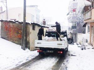 Tekirdağ Büyükşehir Belediyesinden kar mesaisi