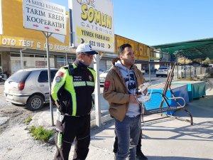 Kuşadası'nda drone ile trafik denetimi