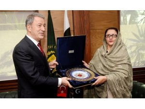 Bakan Hulusi Akar, Pakistan Genelkurmay Başkanı ile görüştü