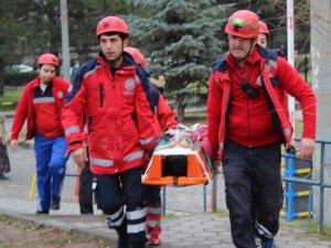 ESOGÜ Hastanesi'nde deprem ve yangın tatbikatı yapıldı