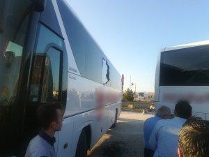 Sandıklı'da iki otobüs çarpıştı
