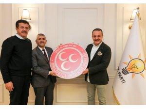 MHP İl Başkanı Şahin'den, Zeybekci ve Şengül'e ziyaret