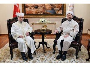 Diyanet İşleri Başkanı Erbaş, Bulgaristan Başmüftüsü'nü kabul etti