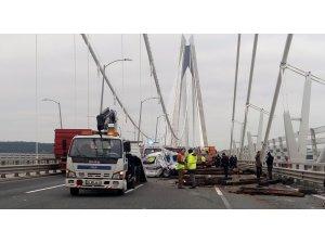 Yavuz Sultan Selim Köprüsü'nde kaza