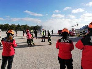 Hasan Polatkan Hava Alanı'nda acil durum tatbikatı
