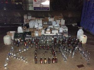 Diyarbakır'da yılbaşı öncesi sahte ve kaçak içki operasyonu