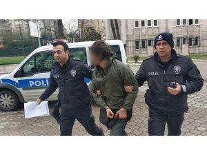 Meyve suyu çalmaktan tutuklandı