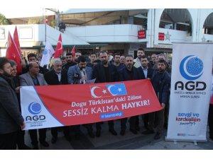Mersin'den Çin'in Doğu Türkistan zulmüne tepki