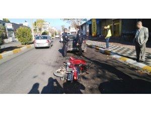 Adıyaman'da motosiklet devrildi: 1 yaralı