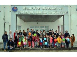 """İslahiye İİBF öğrencilerinden """"Kardeş İlkokul ile Kardeş Üniversitesi"""" projesi"""