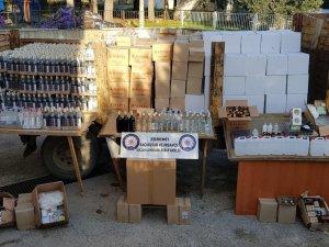 Balıkesir polisinden yılbaşı öncesinde sahte içki imalatçılarına şok baskın