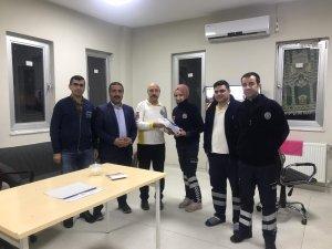 Sağlık-Sen'den acil sağlık çalışanlarına ziyaret