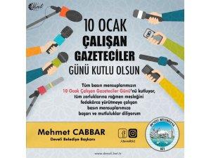 Başkan Cabbar'dan 10 Ocak Çalışan Gazeteciler Günü mesajı