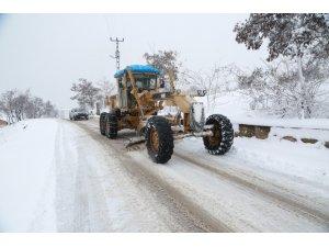 Elazığ'da karla mücadele çalışmaları