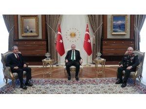 Cumhurbaşkanı Erdoğan, Bakan Akar ve Orgeneral Güler'i kabul etti