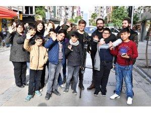 Gençler, mahallede film çekti