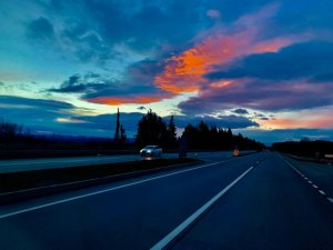 Bursa'yı kara bulutlar sardı