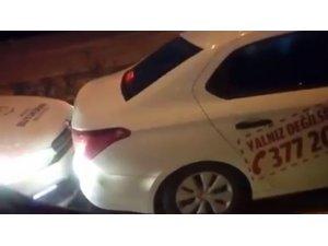 Belediyenin otomobillerini çarpışan otoya çevirdiler