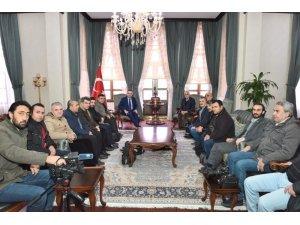 Vali Soytürk gazetecileri kabul etti