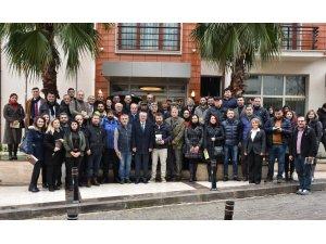 Vali Deniz gazetecileri ağırladı