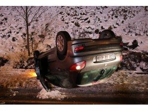 Başkent'te otomobil takla attı: 1 yaralı