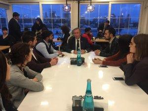 Mansur Yavaş, CHP ve İYİ Parti'nin Ankara Gençlik Kolları üyeleriyle buluştu