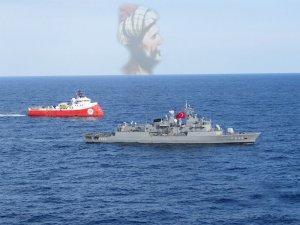 Doğu Akdeniz'de Barbaros'a Barbaros refakat ediyor