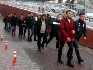 Kayseri'de FETÖ'nün mahrem asker yapılanmasından 12 kişi adliyeye çıkarıldı