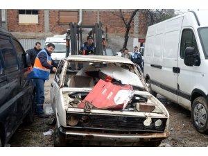 Osmangazi'de hurda araç temizliği