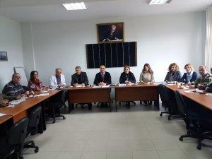 Biga MYO'da Bölüm Başkanları ile toplantı yapıldı