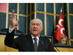 """MHP lideri Bahçeli: """"CHP buyursun seçime katılmasın"""""""